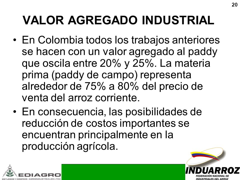 VALOR AGREGADO INDUSTRIAL