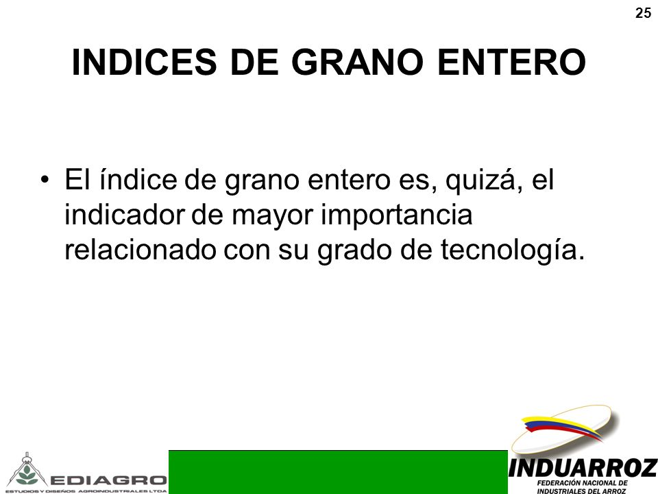 INDICES DE GRANO ENTERO
