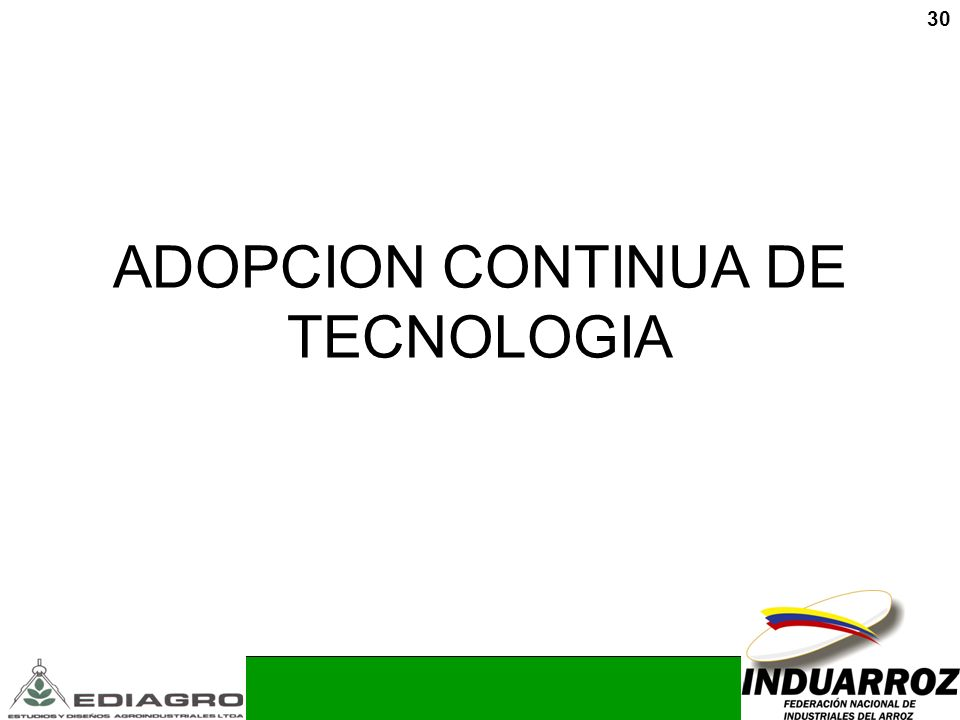 ADOPCION CONTINUA DE TECNOLOGIA