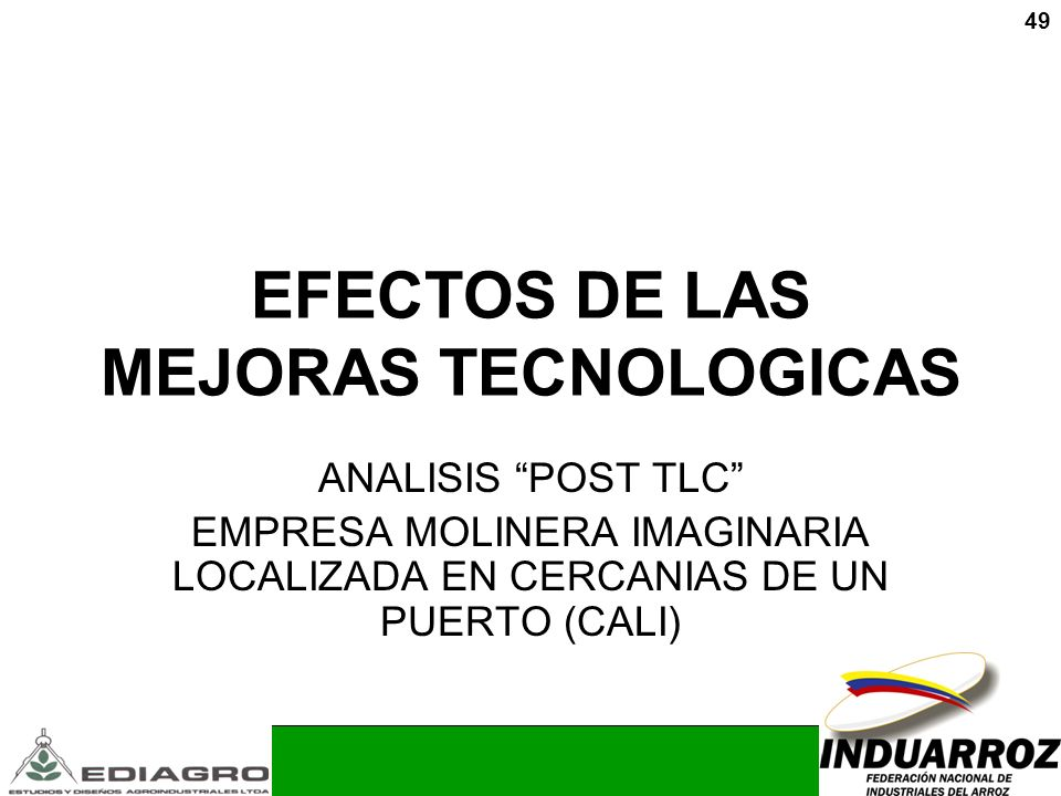 EFECTOS DE LAS MEJORAS TECNOLOGICAS