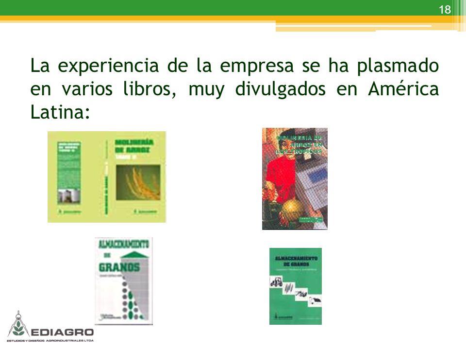 La experiencia de la empresa se ha plasmado en varios libros, muy divulgados en América Latina: