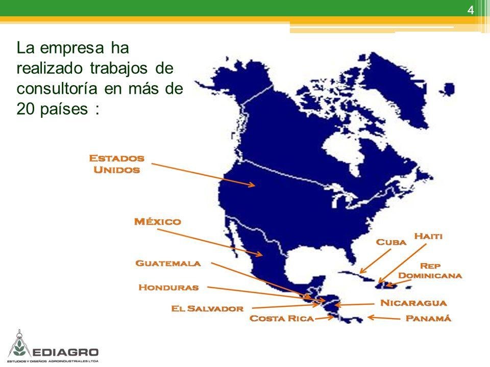 La empresa ha realizado trabajos de consultoría en más de 20 países :