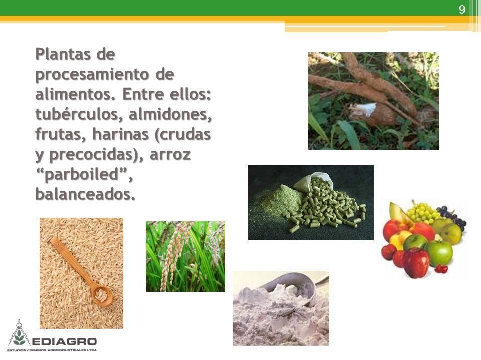 Plantas de procesamiento de alimentos