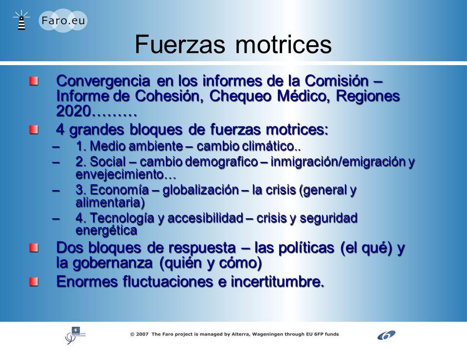 Fuerzas motrices Convergencia en los informes de la Comisión – Informe de Cohesión, Chequeo Médico, Regiones 2020………