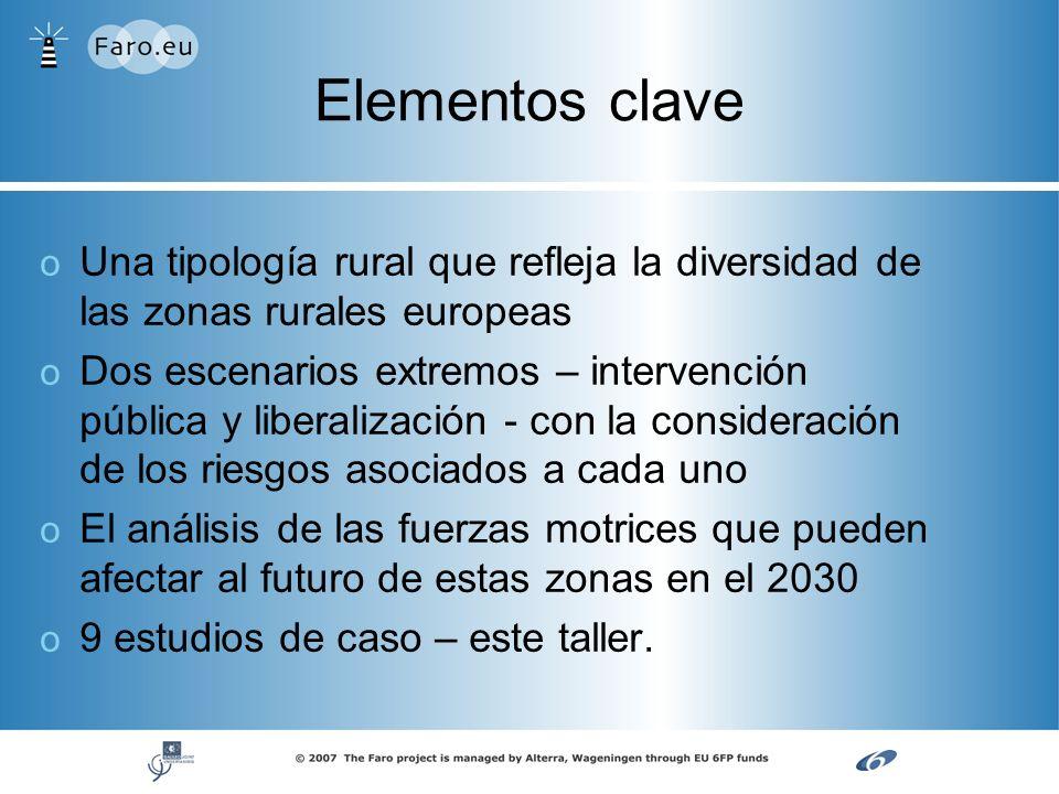 Elementos clave Una tipología rural que refleja la diversidad de las zonas rurales europeas.