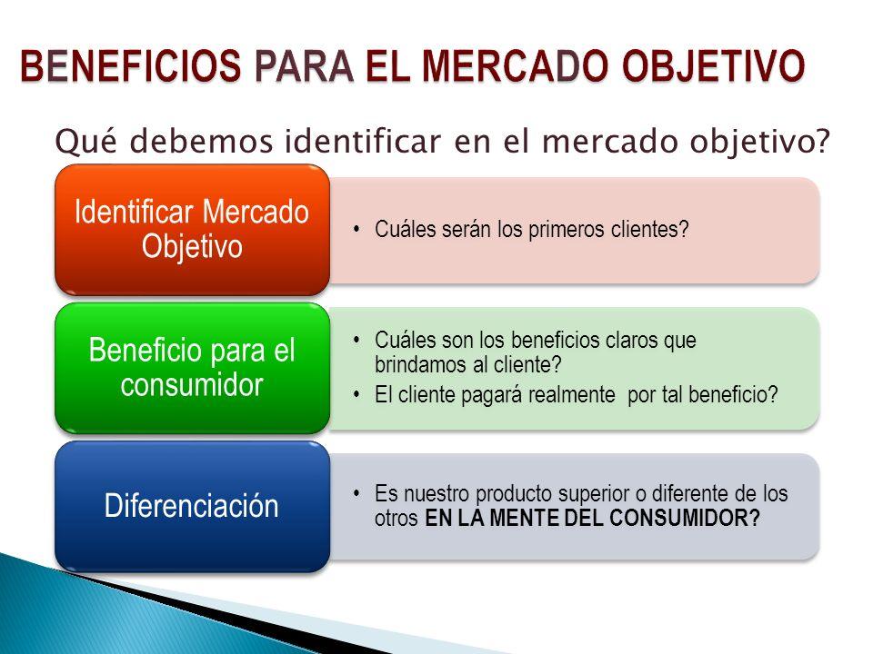 BENEFICIOS PARA EL MERCADO OBJETIVO