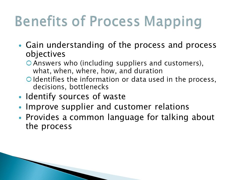 Benefits of Process Mapping