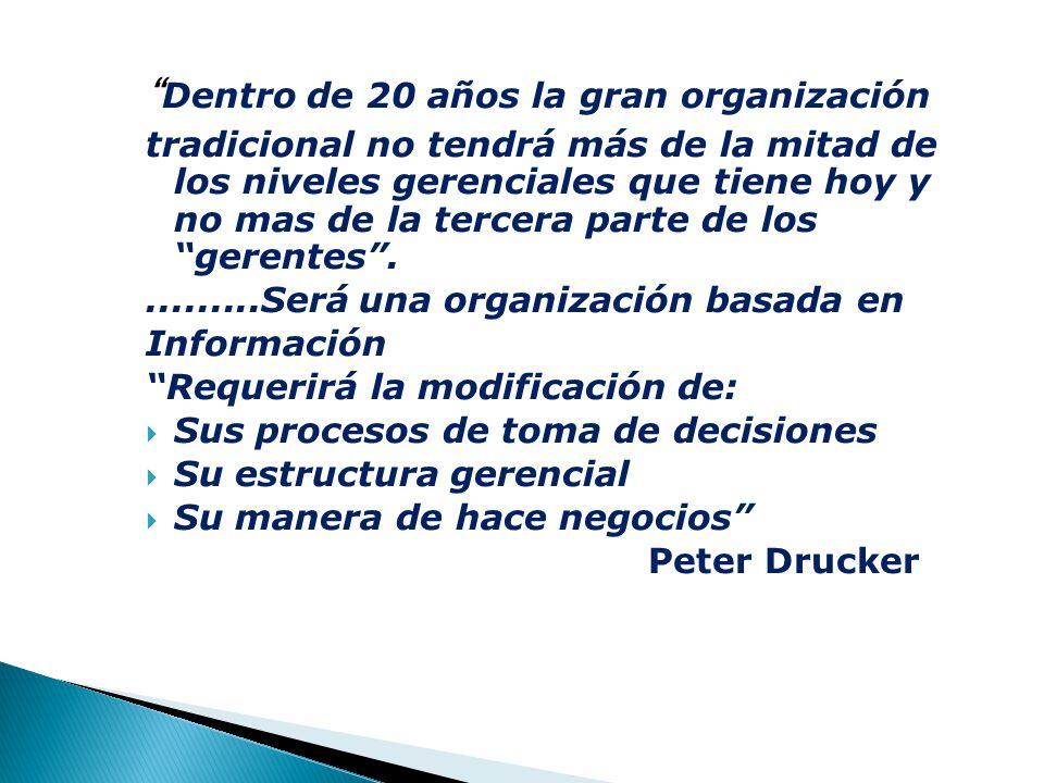 Dentro de 20 años la gran organización
