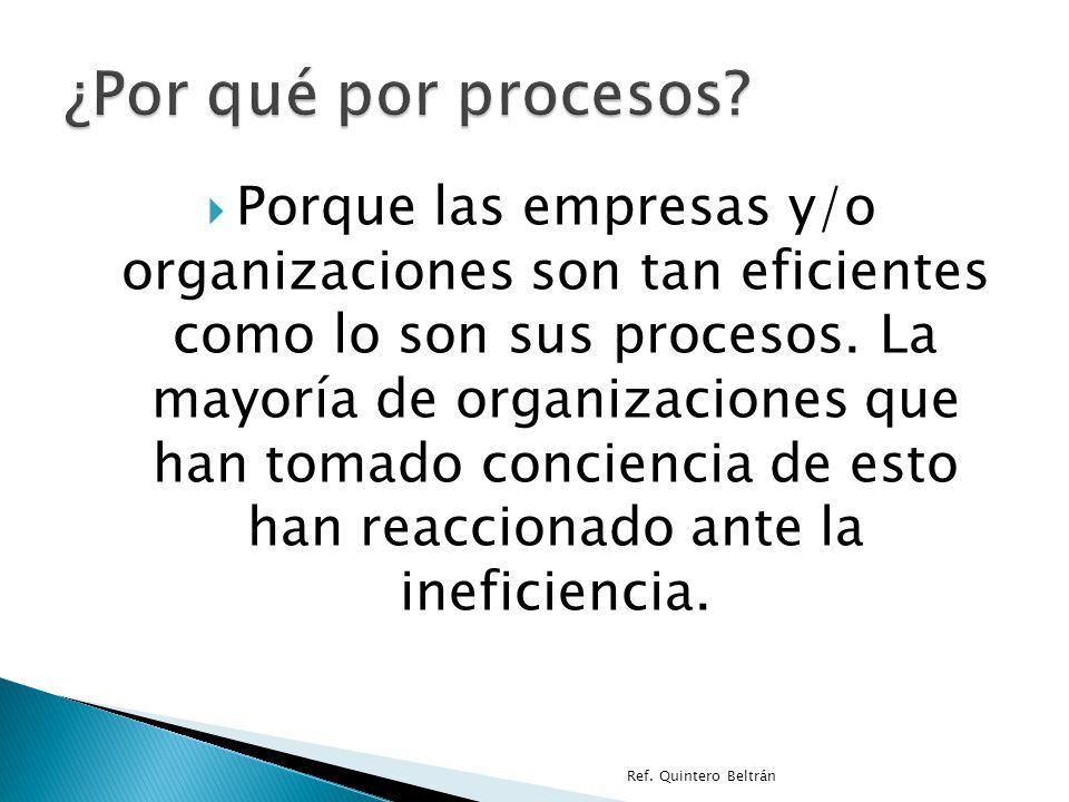 ¿Por qué por procesos