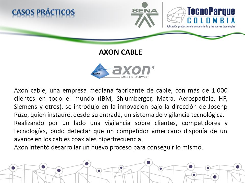 Casos prácticos AXON CABLE