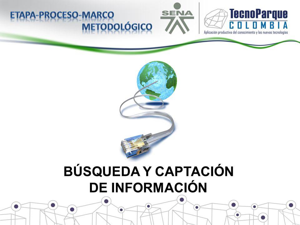 Etapa-proceso-marco metodológico BÚSQUEDA Y CAPTACIÓN DE INFORMACIÓN