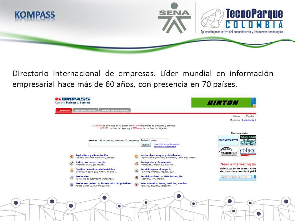 kompass Directorio Internacional de empresas.