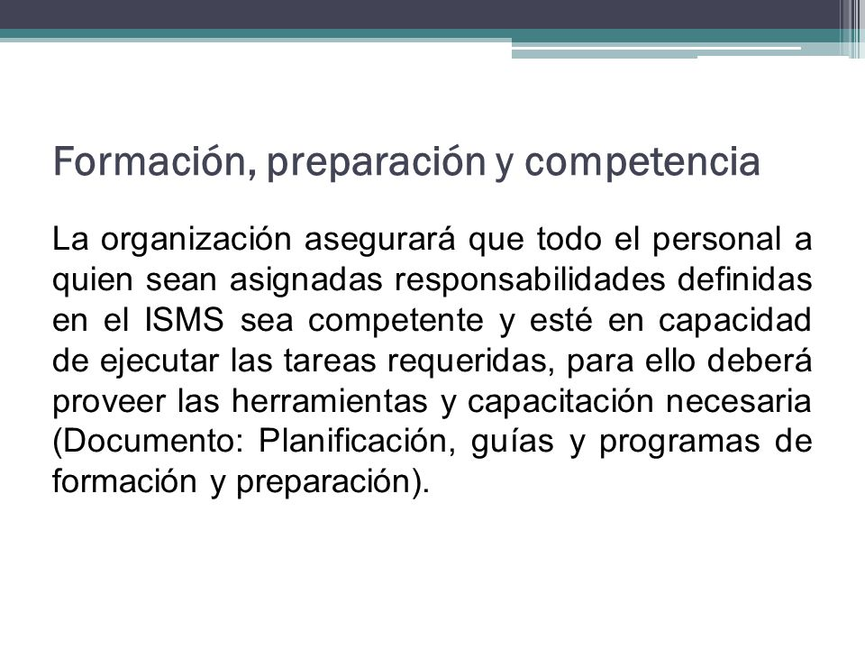Formación, preparación y competencia