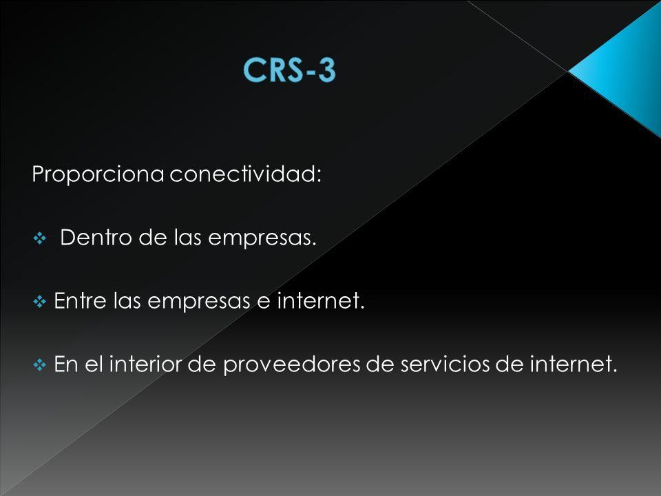 CRS-3 Proporciona conectividad: Dentro de las empresas.