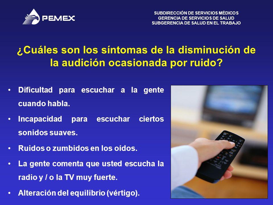 ¿Cuáles son los síntomas de la disminución de la audición ocasionada por ruido