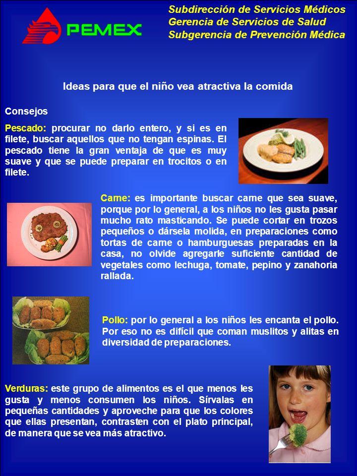 Ideas para que el niño vea atractiva la comida
