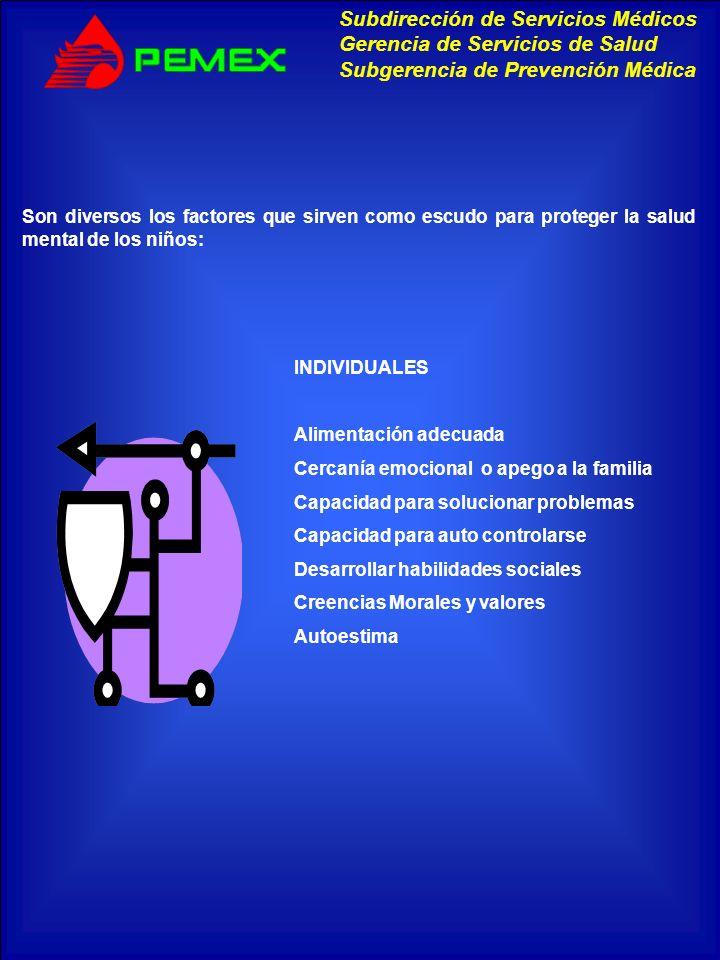Son diversos los factores que sirven como escudo para proteger la salud mental de los niños: