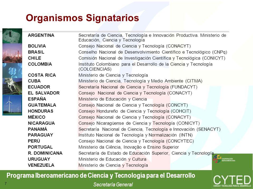 Organismos Signatarios