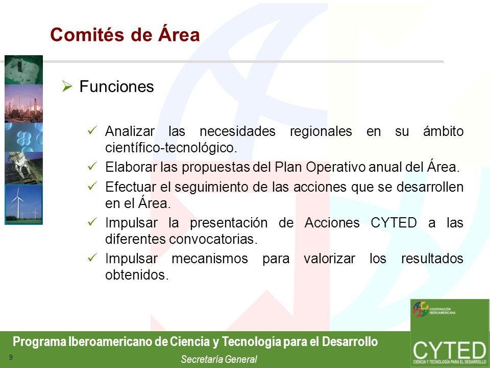 Comités de Área Funciones