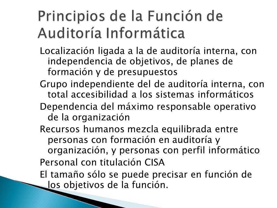 Principios de la Función de Auditoría Informática