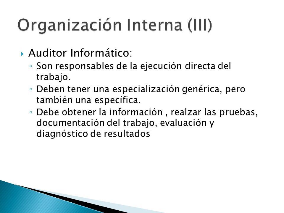 Organización Interna (III)