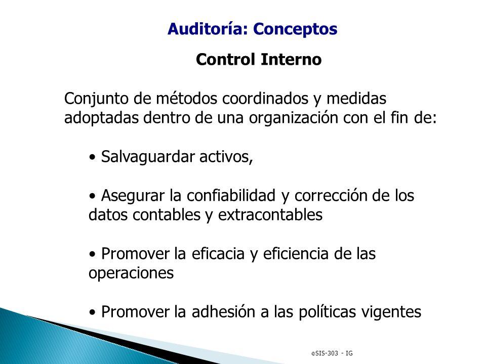 Auditoría: Conceptos Control Interno