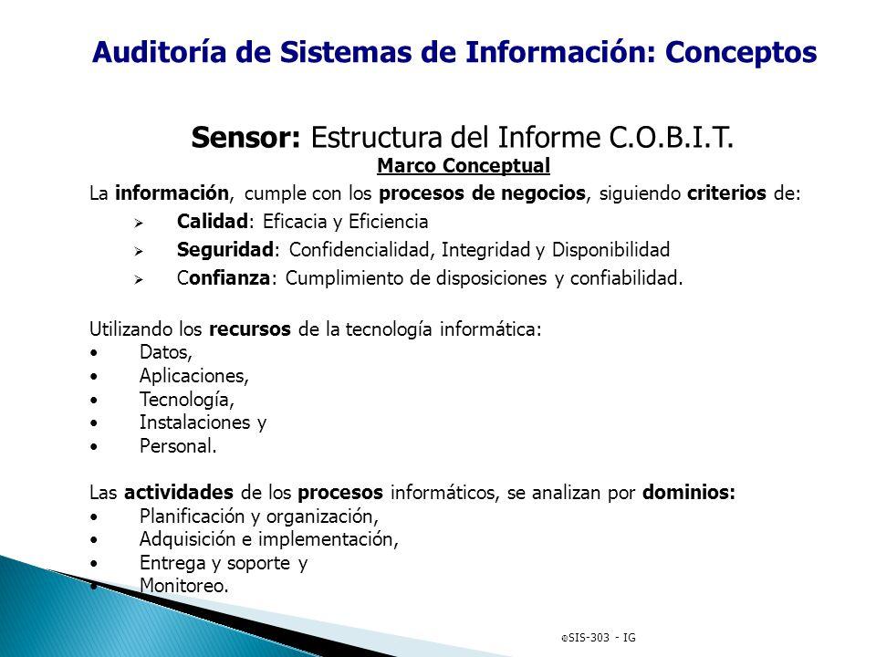 Auditoría de Sistemas de Información: Conceptos