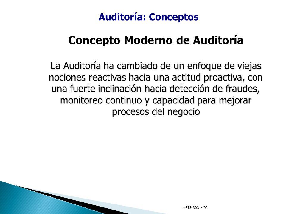 Concepto Moderno de Auditoría