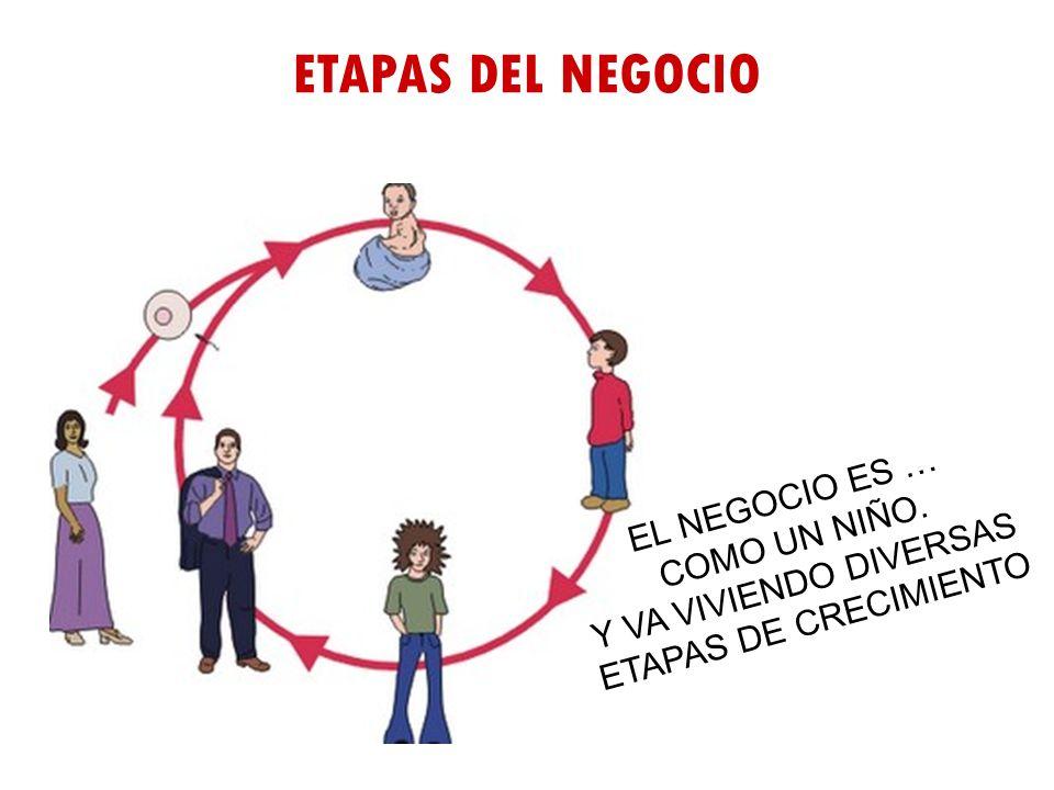 ETAPAS DEL NEGOCIO EL NEGOCIO ES … COMO UN NIÑO.