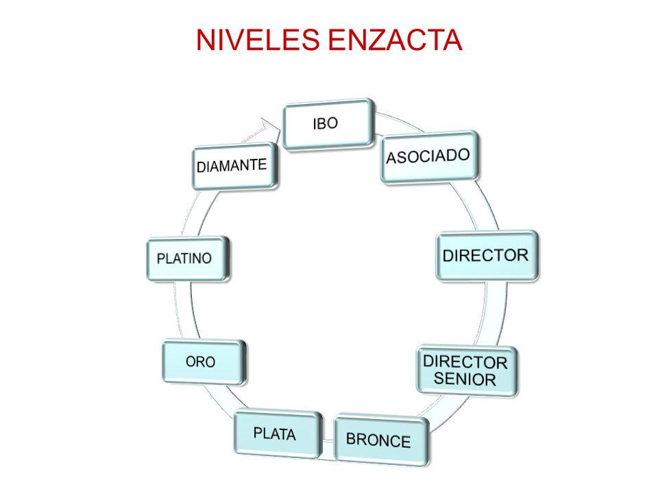 NIVELES ENZACTA IBO ASOCIADO DIRECTOR DIRECTOR SENIOR BRONCE PLATA ORO