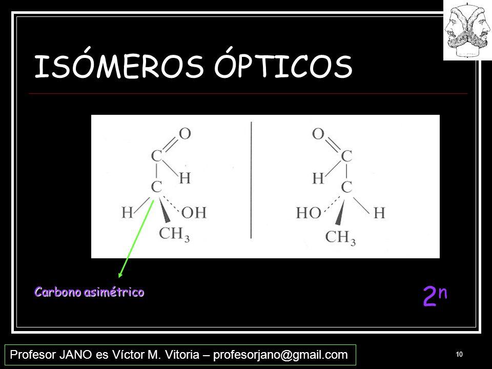 ISÓMEROS ÓPTICOS 2n Carbono asimétrico