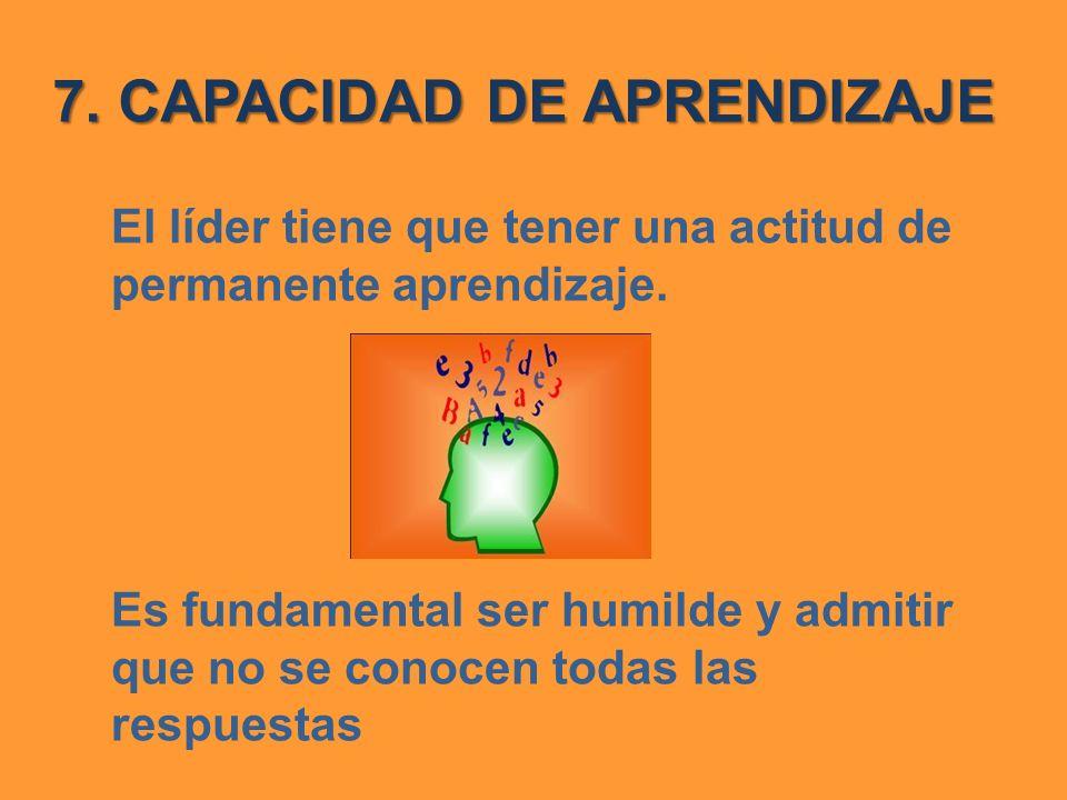 7. CAPACIDAD DE APRENDIZAJE