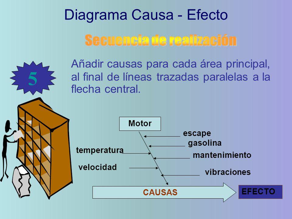 5 Diagrama Causa - Efecto Secuencia de realización