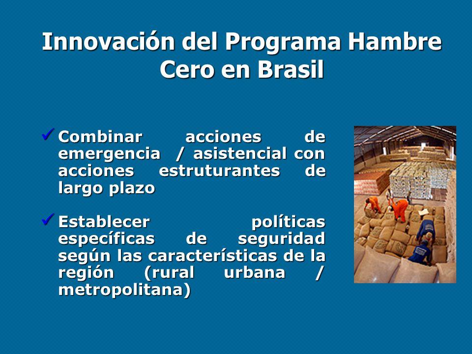 Innovación del Programa Hambre Cero en Brasil