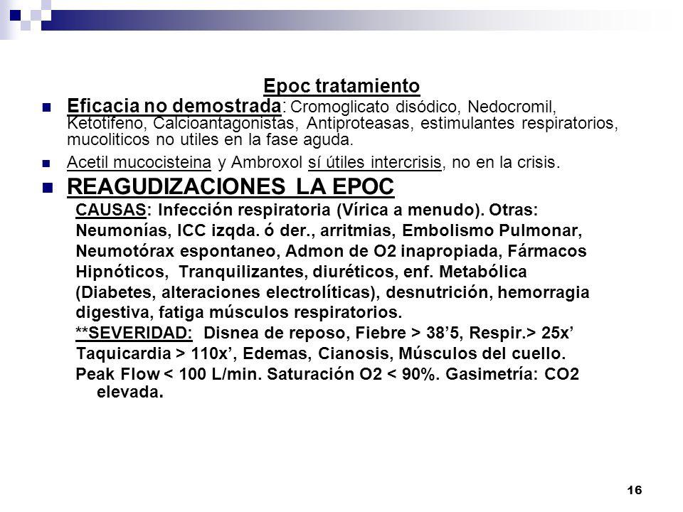 REAGUDIZACIONES LA EPOC