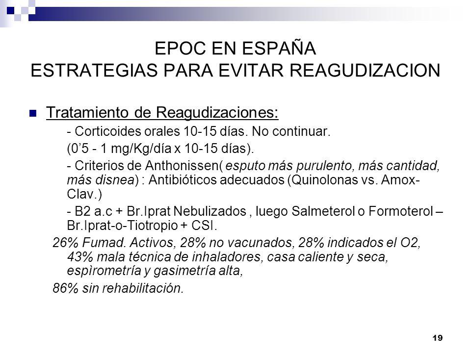 EPOC EN ESPAÑA ESTRATEGIAS PARA EVITAR REAGUDIZACION