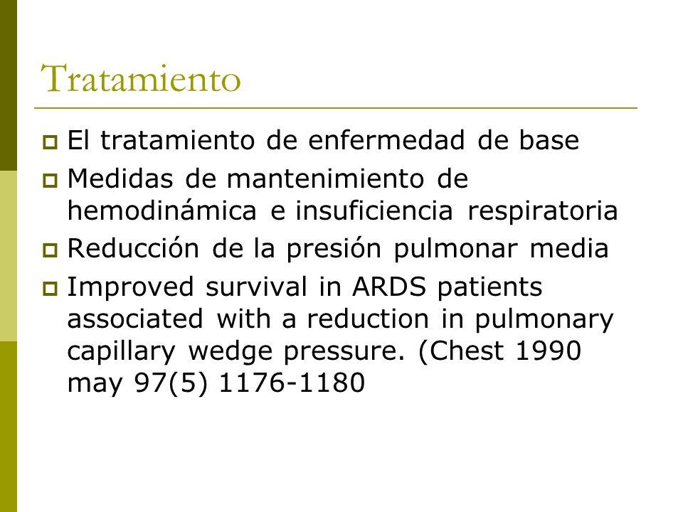 Tratamiento El tratamiento de enfermedad de base