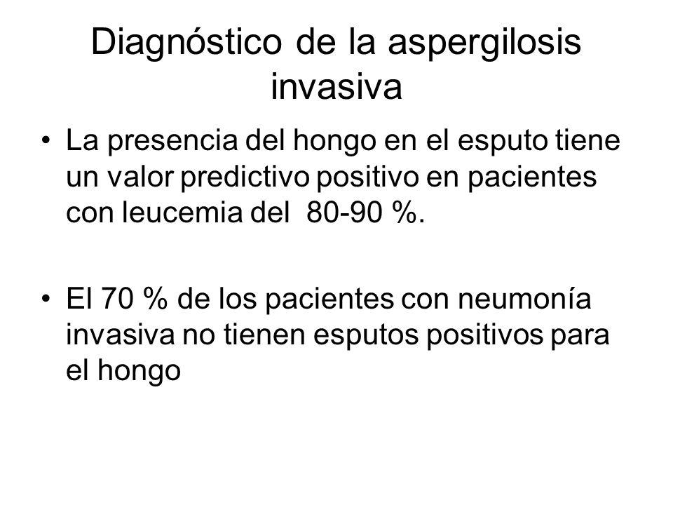 Diagnóstico de la aspergilosis invasiva