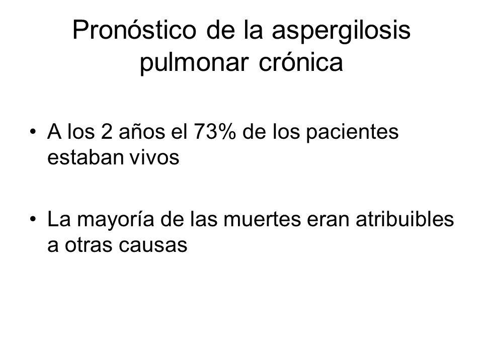 Pronóstico de la aspergilosis pulmonar crónica