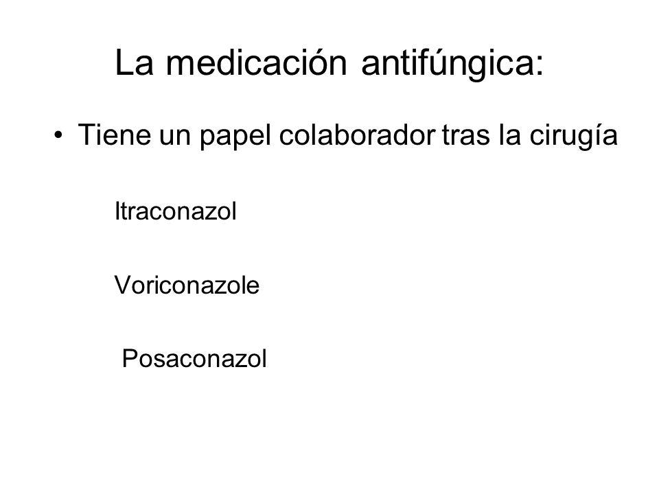 La medicación antifúngica:
