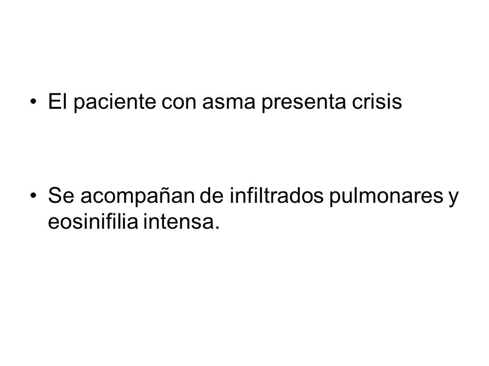 El paciente con asma presenta crisis