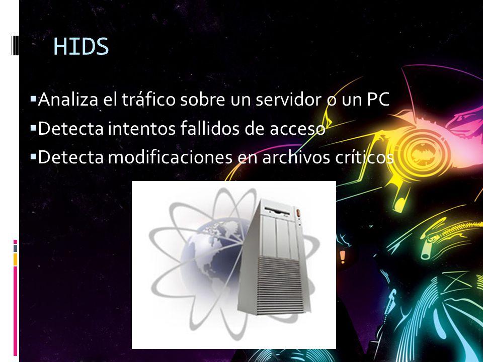 HIDS Analiza el tráfico sobre un servidor o un PC