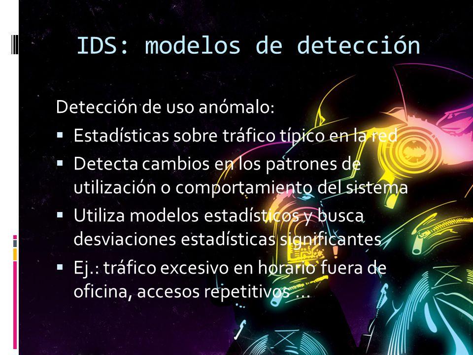 IDS: modelos de detección