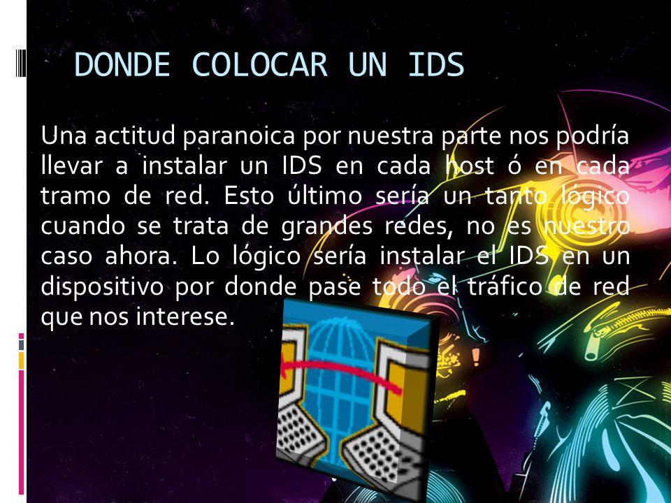 DONDE COLOCAR UN IDS