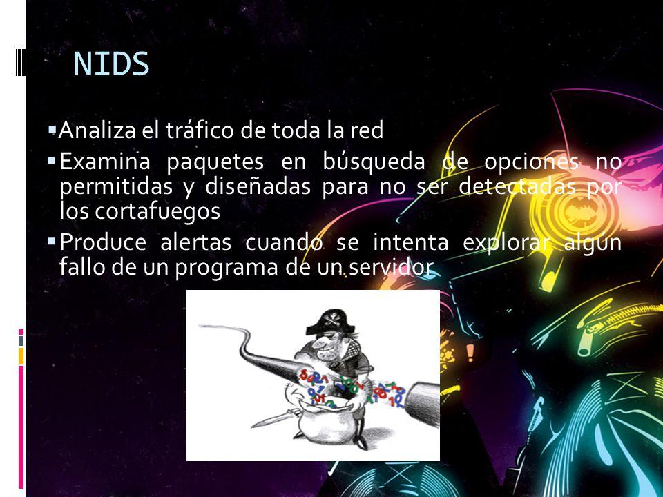 NIDS Analiza el tráfico de toda la red