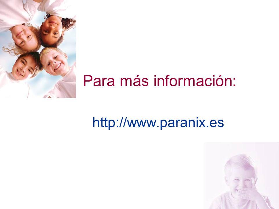 Para más información: http://www.paranix.es