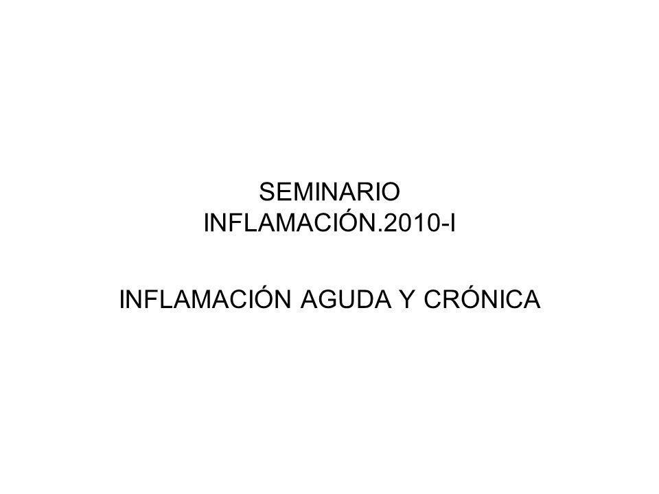 SEMINARIO INFLAMACIÓN.2010-I