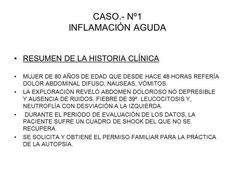 CASO.- Nº1 INFLAMACIÓN AGUDA