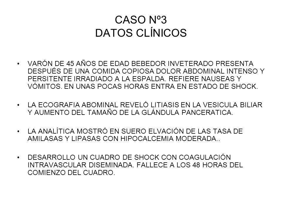 CASO Nº3 DATOS CLÍNICOS