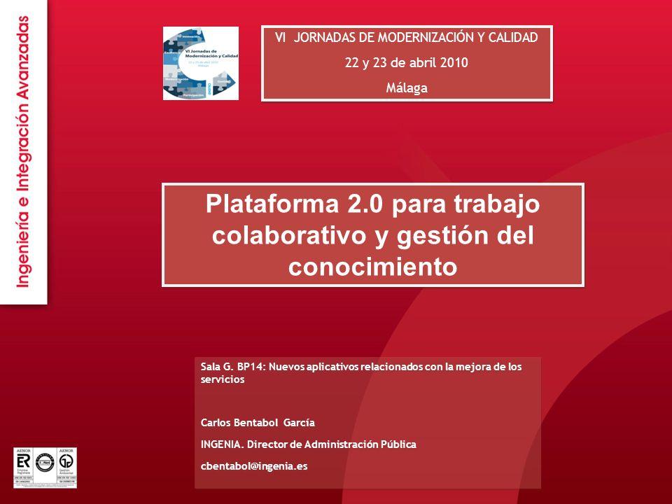 Plataforma 2.0 para trabajo colaborativo y gestión del conocimiento
